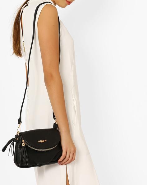 Textured Sling Bag By Carlton London ( Black )