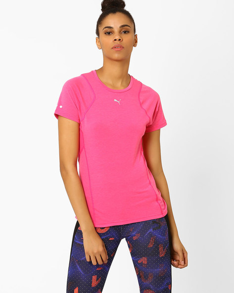 Panelled T-shirt With DryCELL By Puma ( Pink )