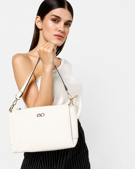 Sling Bag With Detachable Strap By E2O ( Beige )