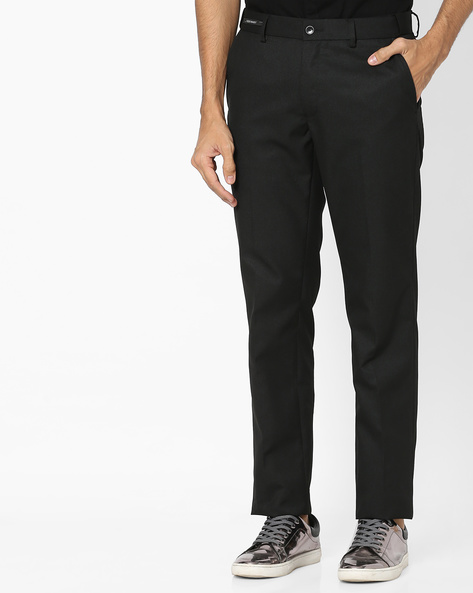 Flat-Front Formal Trousers By NETWORK ( Black ) - 440802315001