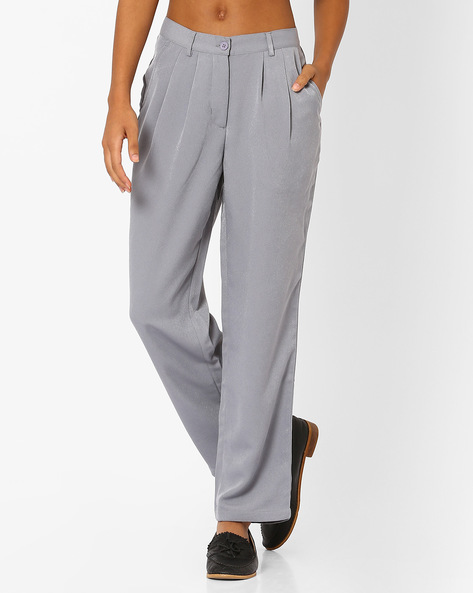 Pleated Trousers With Belt Loops By TAANZ WOMENS ( Assorted )