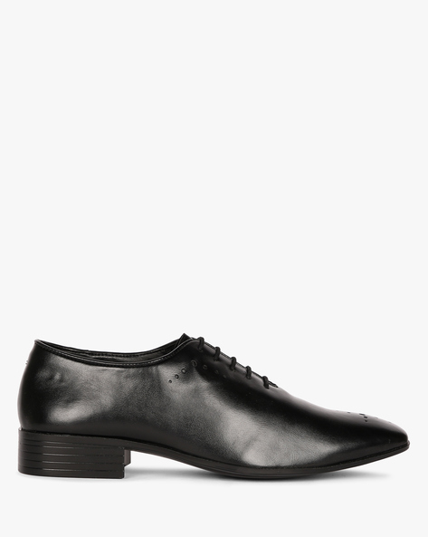 Wholecut Oxford Shoes With Broguing By ESCARO ( Black )