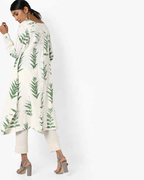 Printed Kurta With Asymmetric Hemline By Project Eve IW Casual ( Offwhite )