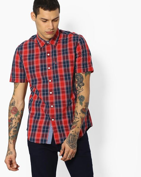 Yarn-Dyed Checked Shirt By LEVIS ( Blue )