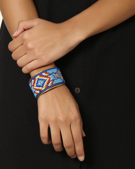 Adjustable Beaded Cuff By Indie Picks ( Multi ) - 460042587001