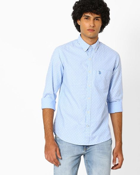 Floral Print Shirt With Button-Down Collar By US POLO ( Assorted ) - 440759620001