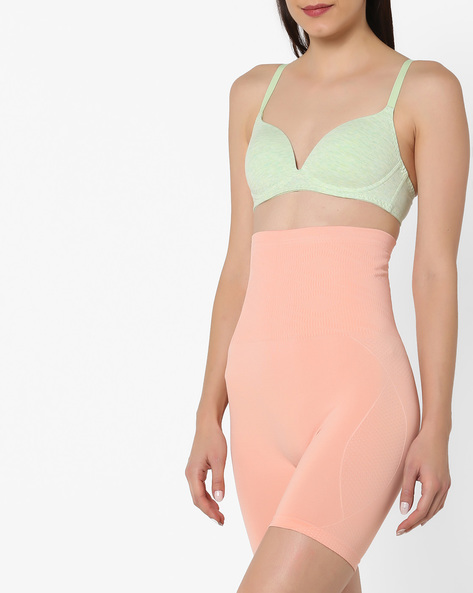 Bulge-Control Lightweight Body Shapewear By Clovia ( Peach )