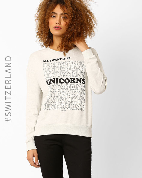 Printed Sweatshirt With Drop Shoulders By TALLY WEiJL ( Multi )