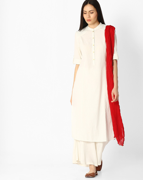 Dupatta With Embellished Detail By Melange By Lifestyle ( Red )