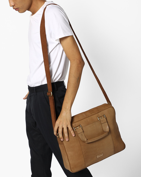Genuine Leather Laptop Bag By JUSTANNED ( Lgttan )
