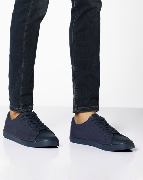 Mesh Low-Top Sneakers By UNITED COLORS OF BENETTON ( Navyblue )