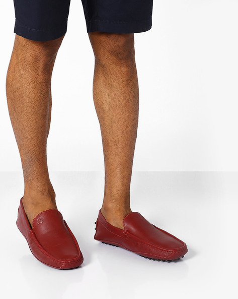 Genuine Leather Moccasins By UNITED COLORS OF BENETTON ( Maroon )