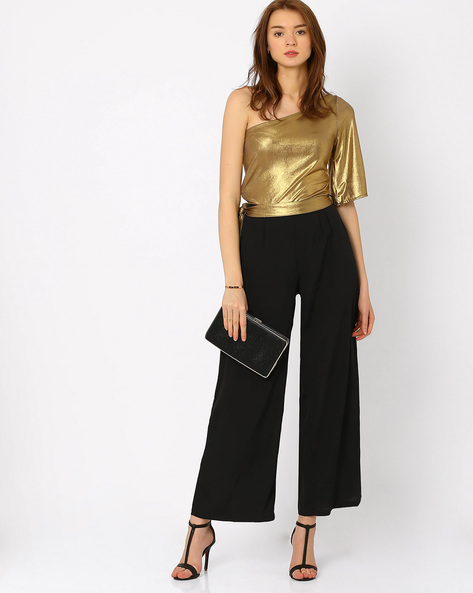 One-Shoulder Jumpsuit By RIDRESS ( Gold )