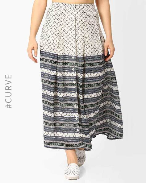 Printed Maxi Skirt By Oxolloxo ( Multi )