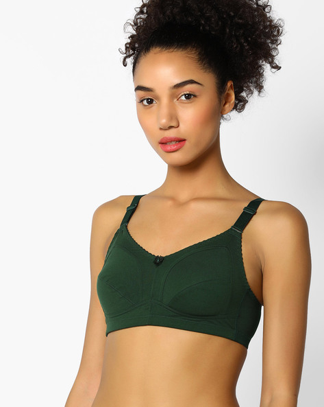 Lightly Padded Full-Coverage Bra By Zivame ( Green )