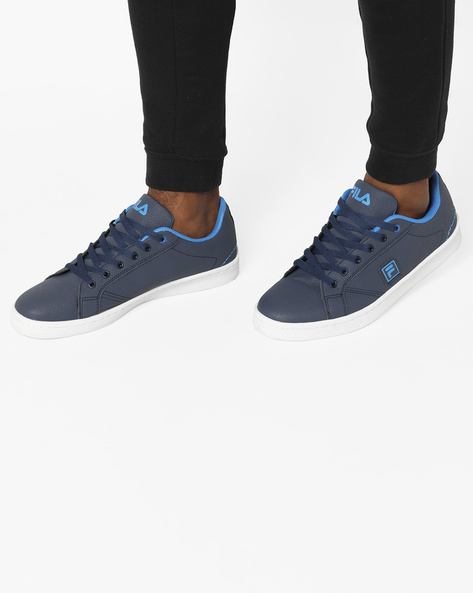 Textured Lace-Up Shoes By FILA ( Blue )
