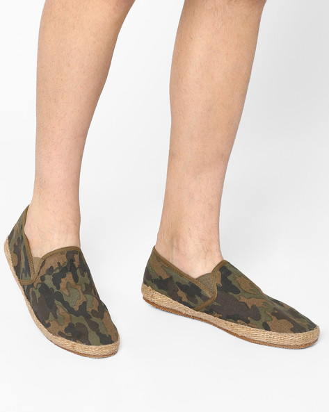 Slip-Ons With Elasticated Gussets By Carlton London ( Camouflage )