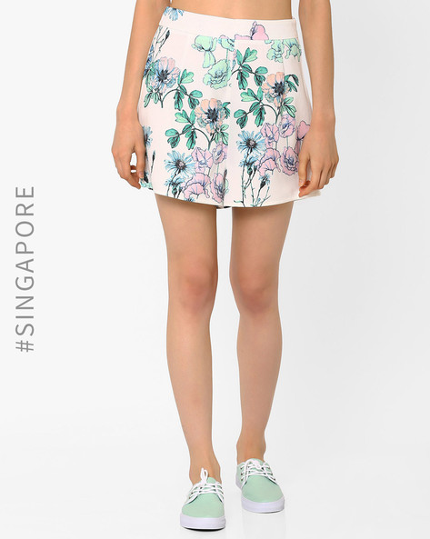 Floral Print Shorts By MDS ( Multi )