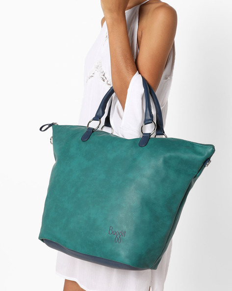L Jass Y G Tinsel Tote Bag By BAGGIT ( Green )