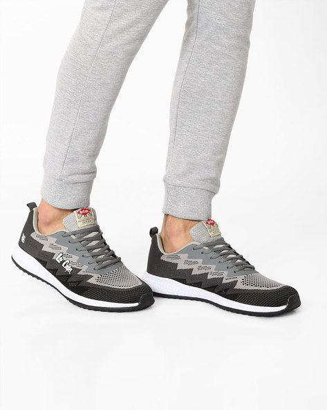Colourblock Lace-Up Sports Shoes By Lee Cooper ( Darkgrey )
