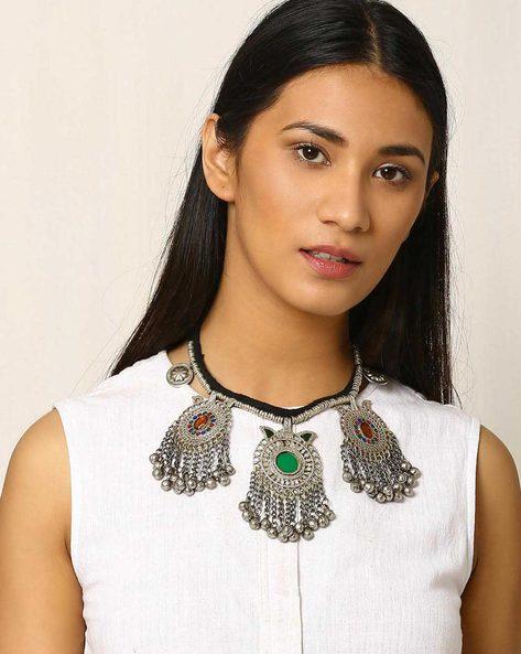 Afghan Tribal Necklace By Indie Picks ( Metallic )