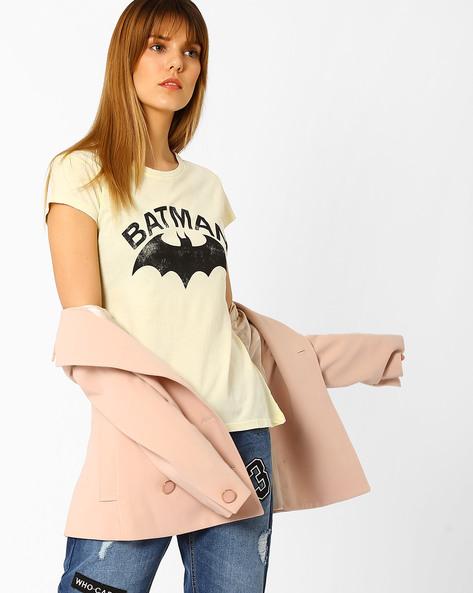 Batman Print Crew-Neck T-shirt By Free Authority ( Lgtyellow )