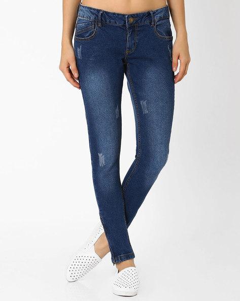 Slim Fit Jeans By DNM X ( Mediumblue )