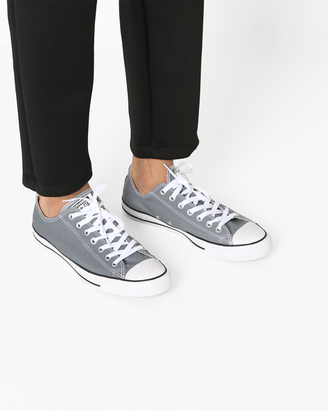 Casual Shoes With Lace-Up Fastening By CONVERSE ( Grey )