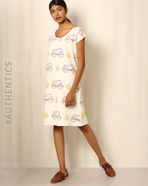 Handblock-Print-Khadi-Dress