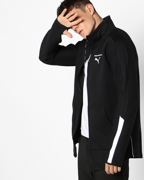 Evo T7 Zip-Front Track Jacket By Puma ( Black )