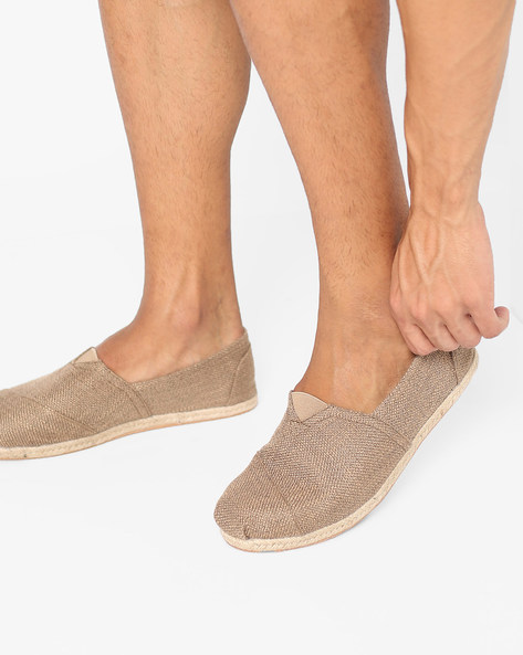 Slip-On Shoes With Elasticated Gusset By AJIO ( Brown )
