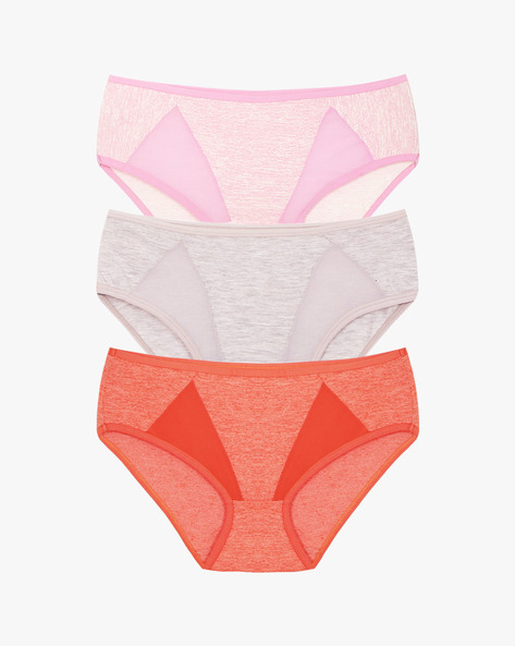 Pack Of 3 Hipster Panties By Clovia ( Multi )