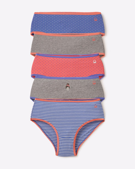 Pack Of 5 Panties By Under Colors Of Benetton ( Multi )