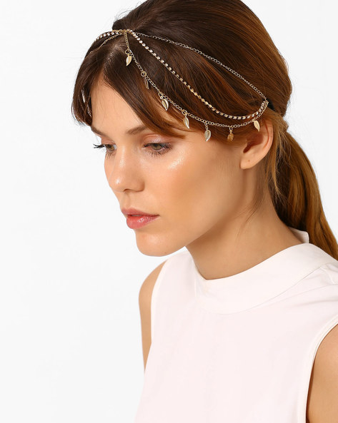 Stranded Headband With Embellishments By Pipa Bella ( Gold )