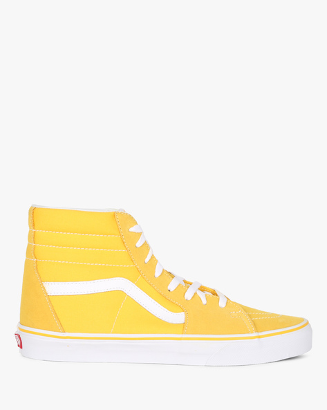 Sk8-Hi High-Top Lace-Up Casual Shoes By Vans ( Yellow )
