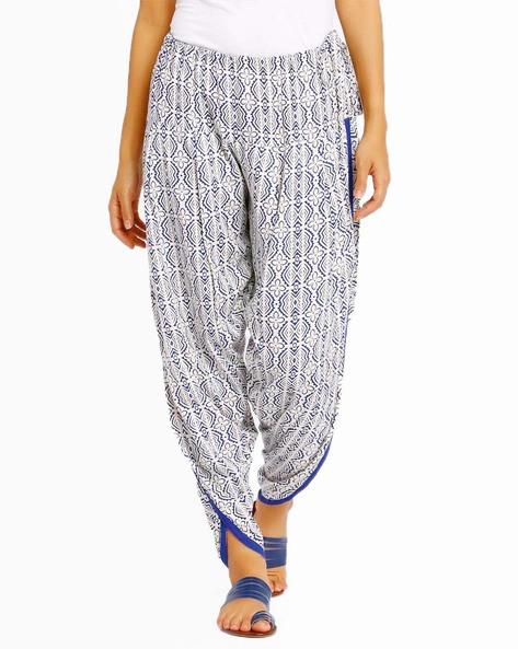 Printed Dhoti Pants By AJIO ( Blue )