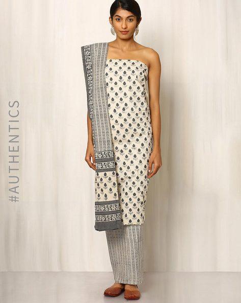 Bagru Printed Cotton Dress Material By Indie Picks ( Multi )