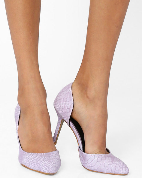 Textured Pumps By MFT Couture ( Lightblue )