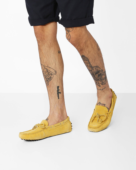 Genuine Leather Casual Shoes By AJIO ( Yellow )