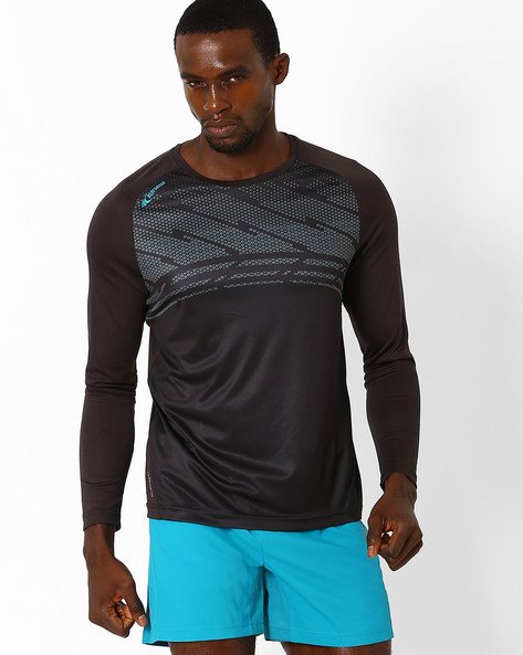 Quick Dry Running T-shirt By PERFORMAX ( Black )