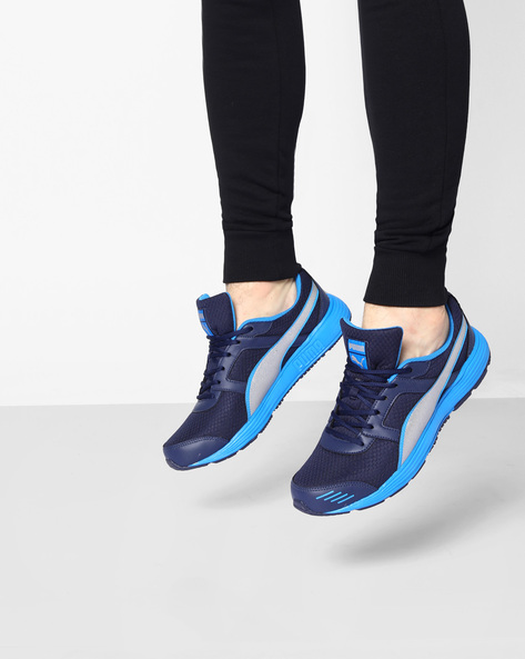 Harbor Lace-Up Sports Shoes By Puma ( Blue )