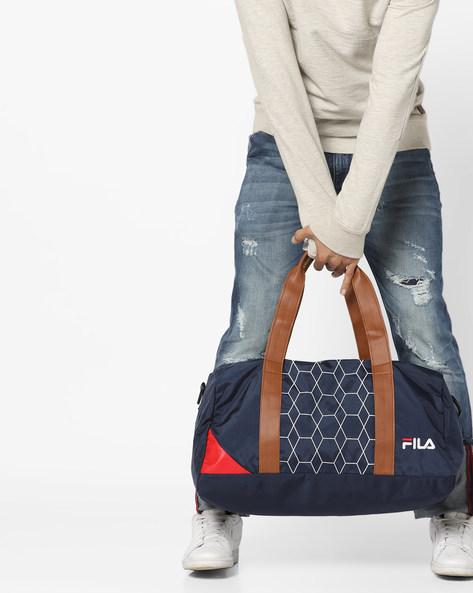 Maxim Printed Duffle Bag By FILA ( Blue )