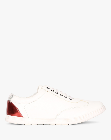Low-Top N9-Treated Lace-Up Casual Shoes By AJIO ( White )