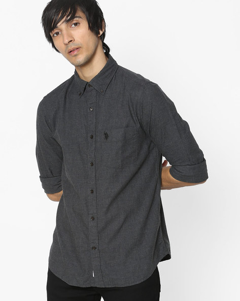 Classic Shirt With Patch Pocket By US POLO ( Multi )
