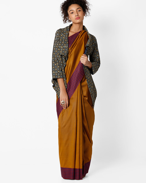 Mysore Art Silk Saree By Amori ( Brown )