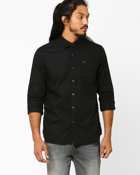 Casual Slim Cotton Shirt By FLYING MACHINE ( Assorted )