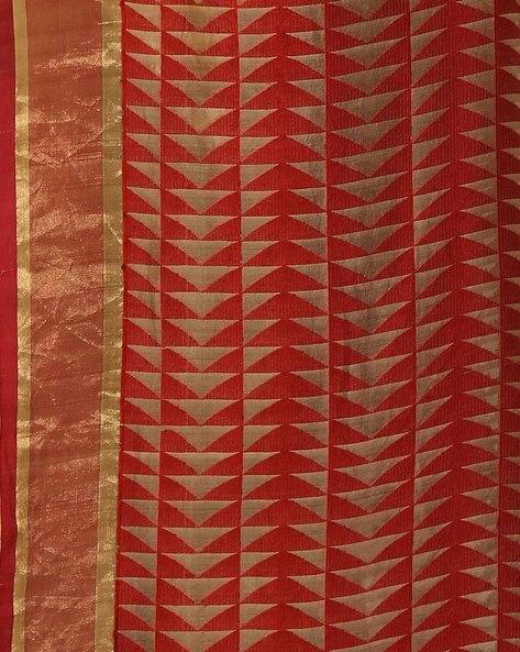 Handwoven Bengal Pure Silk Matka Jamdani Saree By Indie Picks ( Maroon )