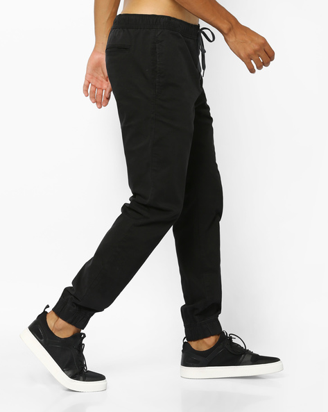 Mid-Rise Trousers With Drawstring Waist By Aeropostale ( Black )