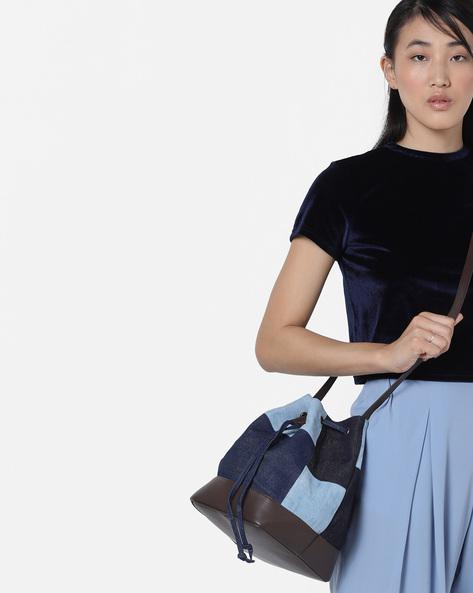 Colourblock Canvas Bucket Bag By Project Eve ( Multi )