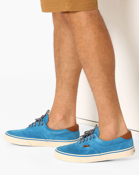 Lace-Up Leather Shoes By Vans ( Blue )